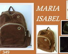 MOCHILA VELUDO MAROM(FRETE GRTIS)