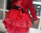 Vestido Minnie Luxo +bolero+tiara