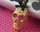 Colar Gold Skull lace