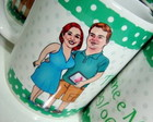 Canecas de porcelana personalizadas