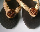 Havaianas decoradas com fibra
