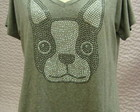 Camiseta cachorro / Dog strass