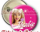 BOTON 2,5cm BARBIE