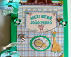 DIRIO BEBE SCRAPBOOK FOTOS VERDE