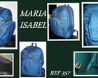 MOCHILA JEANS BRILHOSO.FRETE GRTIS