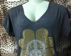 BLUSA TREVO  PAZ STRASS ADRIANA DOURADO