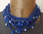 Colares em croche e contas acrílicas (crochet and acrylic beads necklaces)