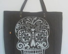 Sacola Skull marrom caf