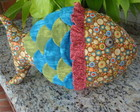 Almofada de Peixe em patchwork