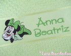 Toalha Infantil Minnie - Verde