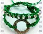 Kit Pulseiras Macrame verde