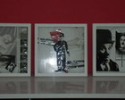 QUADRO CHARLIE CHAPLIN EM ARTE FRANCESA