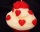 Cupcake Corao Vermelho