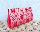 Clutch Renda Vermelha