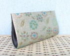 Clutch Floral Dourada