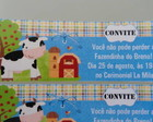 Rtulo Convite Fazendinha