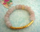 Pulseira Vidro Rosa - Frete grtis