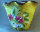 VASO FLORAL OCRE