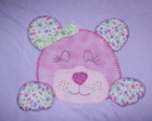 Camiseta - Patch Apliqu� - Urso rosa