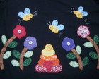 Camiseta - Patch Apliqu� - Flores