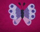 Camiseta - Patch Apliqu� - Borbolet�o