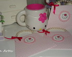 Convite bolsinha Hello kitty
