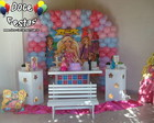 Decora��o Clean Barbie Escola Princesas