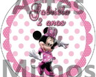Adesivo Latinha Minnie Rosa