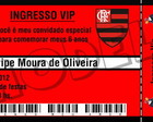 Convite Ingresso Flamengo