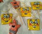 BISCOITOS DECORADOS DO BOB ESPONJA