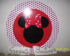 placa redonda minnie