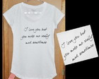 "T-Shirt feminina ""I love you"""