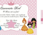 CONVITE E TAG DIGITAL - PRINCESAS