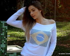 BLUSA BRASIL STRASS ADRIANA DOURADO