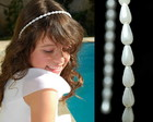 Tiara de prolas *branco ou off white*