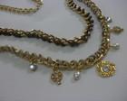 maxi colar dourado  com pingentes