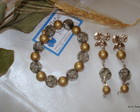 Conjunto pulseira e brincos-FRETE GRTIS