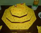 Caixa fatia de bolo torta