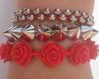 Pulseira Kit Rosas 3 peas