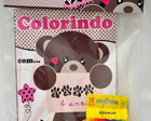 Kit colorir Ursa marrom e rosa