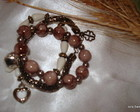 Mix pulseiras marron