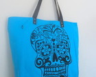 Sacola Skull azul