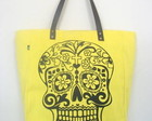 Sacola Skull -amarelo lima