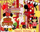 Kit Scrapbook Digital Minnie's Birthday