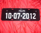 Placa Com Data e Nome