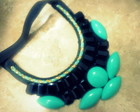 Maxi Colar Verde gua