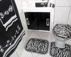 KIT DE BANHEIRO - ANIMAL PRINT E NEGRO