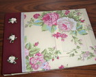CADERNO DE MENSAGENS FLORAL BEGE E BORD