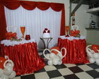 DECORAO VERMELHO E BRANCO