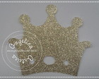 Tag Coroa papel Glitter
